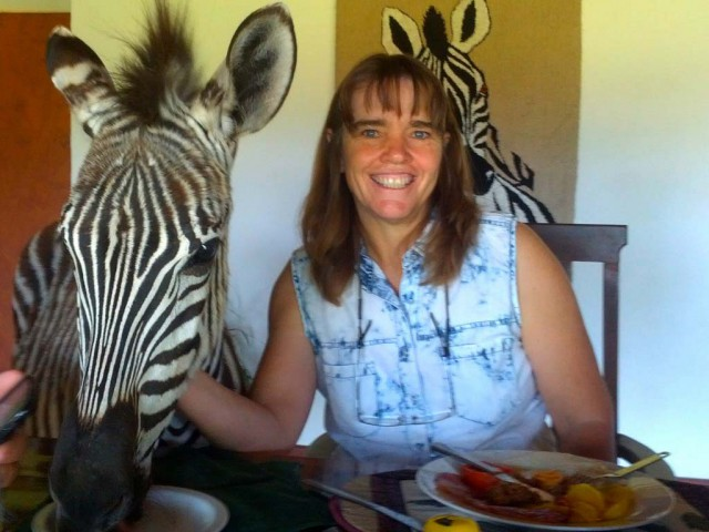Debbie and Stripes at Mwanga Lodge